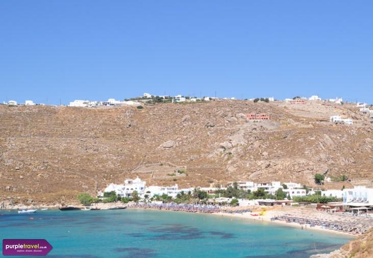 Psarou beach Mykonos Cheap holidays with PurpleTravel