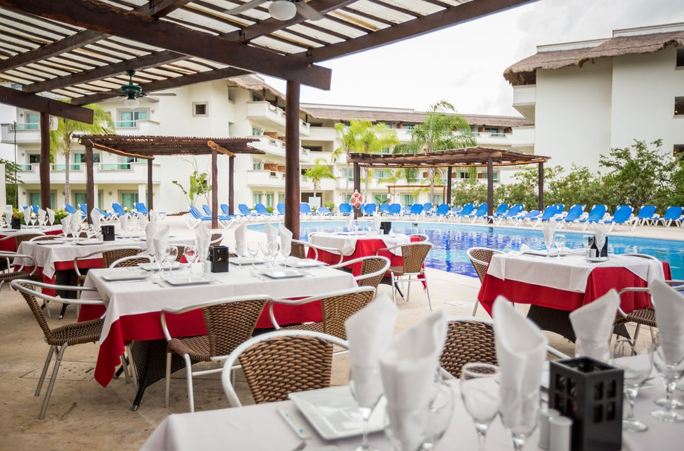 Dining by the Swimming Pool photo