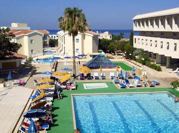 Panoramic pool view of Kissos Hotel in Paphos photo