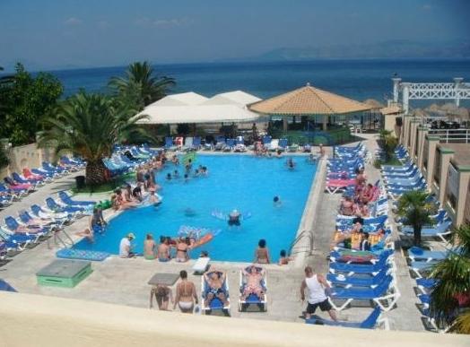 Trabukos Beach Club Studios Apartments Hotel Kavos Pool View Photo