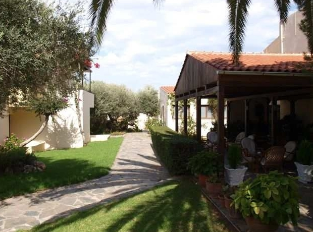 Lush gardens inside resort photo