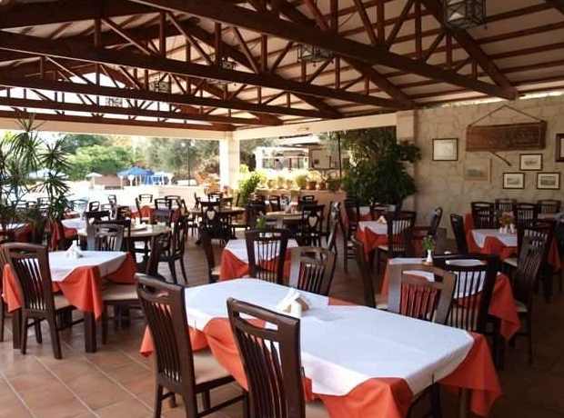 Restaurant with Greek traditional food photo