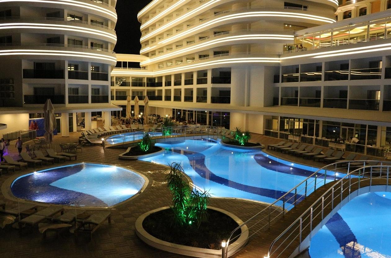 Laguna Beach Alya Resort Turkey Purple Travel