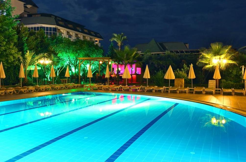 Pool at night photo